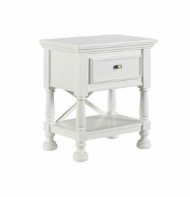 Kaslyn White One Drawer Night Stand