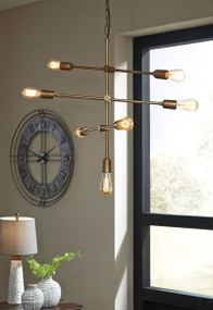 Nastalya Gold Finish Metal Pendant Light (1/CN)