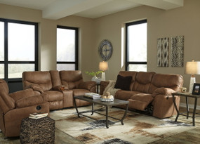 Boxberg Bark REC Sofa, DBL REC Loveseat with Console & Rocker Recliner