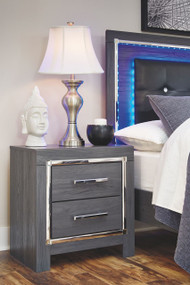 Lodanna Gray Two Drawer Night Stand