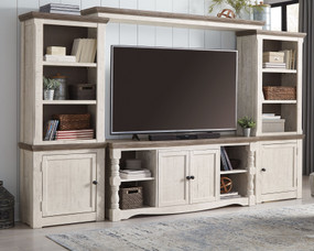 Havalance Two-tone Entertainment Center