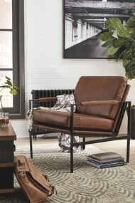 Puckman Brown/Silver Finish Accent Chair