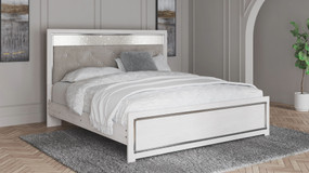 Altyra White King Panel Bed