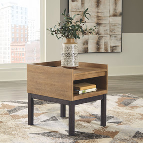 Fridley Two-tone Rectangular End Table