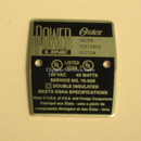 Oster Powerline Name Plate
