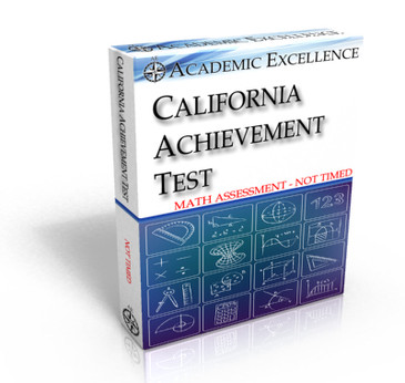 ONLINE California Achievement Test: Mathematics Only, NOT TIMED