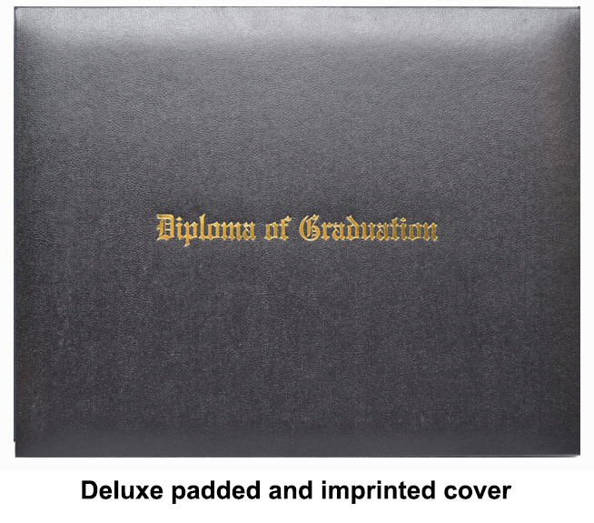 Deluxe padded and imprinted cover