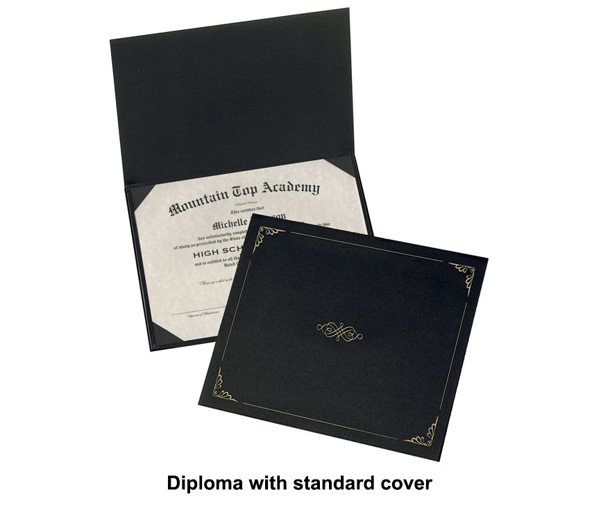 Diploma with standard cover