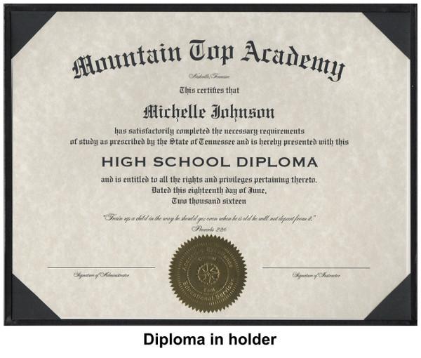 Diploma in holder