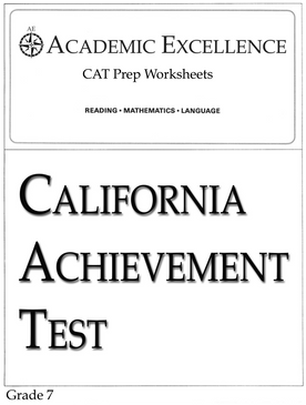 CAT Prep Pack: Grade 7 - PDF Download