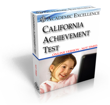 Complete ONLINE California Achievement Test: NOT TIMED