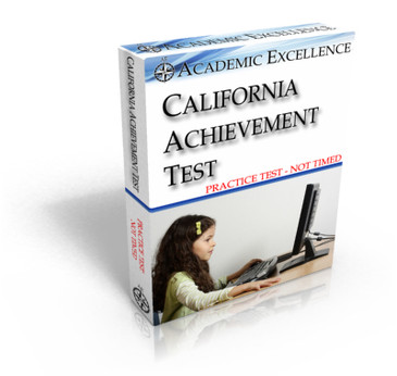 Practice ONLINE California Achievement Test: NOT TIMED