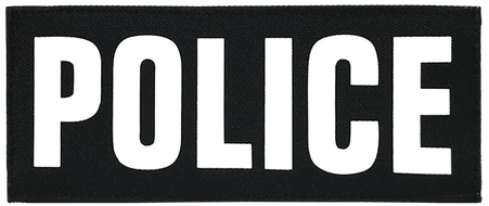 Shellback Tactical 2 x 5 Inch ID Placard with Hook Back - White Text and Black Background