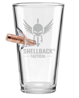 "Shellback Tactical ""Bulletproof"" Pint Glass"