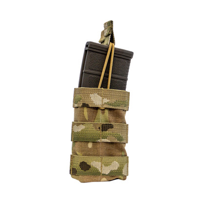 Shellback Tactical Single Stacker M4 Open Top Mag Pouch Multicam Front