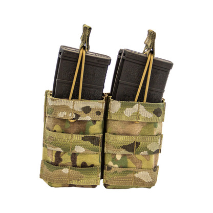 Shellback Tactical Double Stacker M4 Open Top Mag Pouch Multicam Front