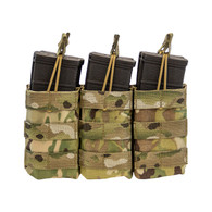 Shellback Tactical Triple Stacker M4 Open Top Mag Pouch Multicam Front