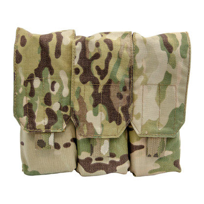 Shellback Tactical Triple Stacker M4 Mag Pouch Multicam Front