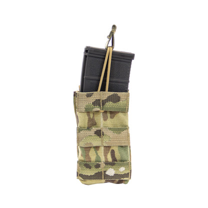 Shellback Tactical Single M4 Open Top Mag Pouch Multicam Front