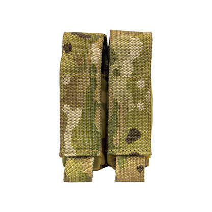 Shellback Tactical Double Pistol Mag Pouch Multicam Front
