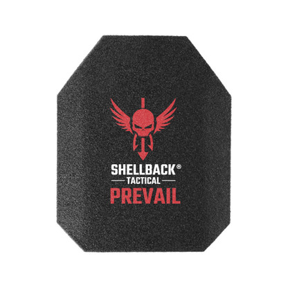 Shellback Tactical Prevail Series 10 x 12 NIJ 0101.06 Certified Stand Alone Level III Hard Armor Plate Model AR500