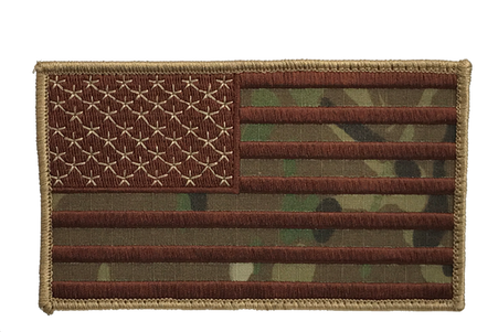 Shellback Tactical 3 x 5 Embroidered US Flag Patch Multicam