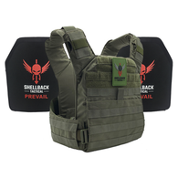 Shellback Tactical Banshee Rifle QD Active Shooter Kit with Level IV Plates - Ranger Green