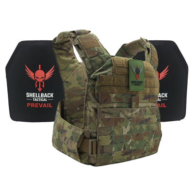 Shellback Tactical Banshee Rifle QD Defender System with Level III 1078 Armor Plates Multicam