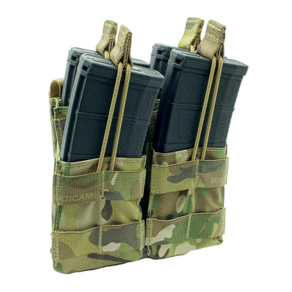 Shellback Tactical Double Stacker Open Top M4 Mag Pouch Multicam