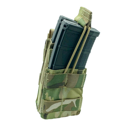 Shellback Tactical Single Stacker Open Top M4 Mag Pouch Multicam