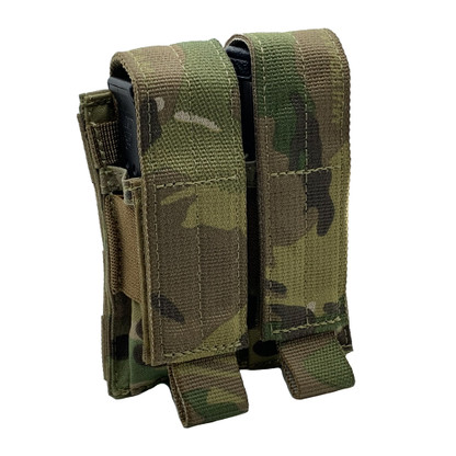 Shellback Tactical Double Pistol Mag Pouch Multicam