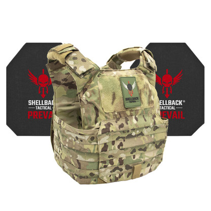 Shellback Tactical Patriot Active Shooter Kit with Level IV 4S17 Plates Multicam