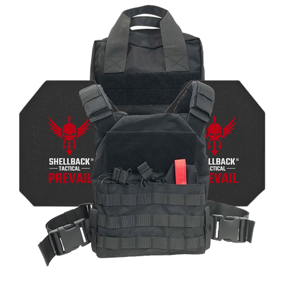 Shellback Tactical Defender Active Shooter Kit with Level IV 4S17 Plates Black