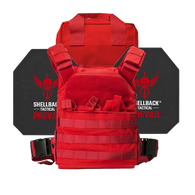 Shellback Tactical Defender Active Shooter Kit with Level IV 4S17 Plates Range Red