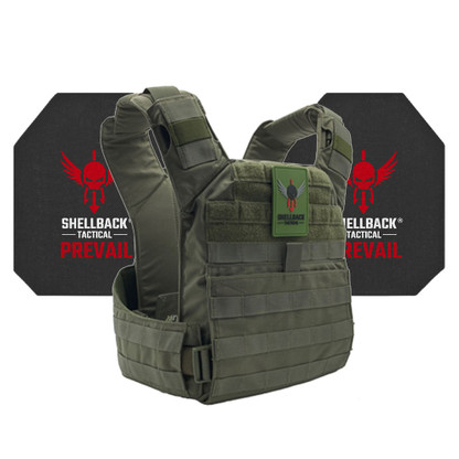 Shellback Tactical Banshee Rifle QD Active Shooter Kit with Level IV 4S17 Plates Ranger Green