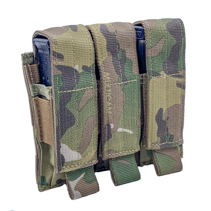 Shellback Tactical Triple Pistol Mag Pouch Multicam