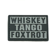 Shellback Tactical Whiskey Tango Foxtrot PVC Patch