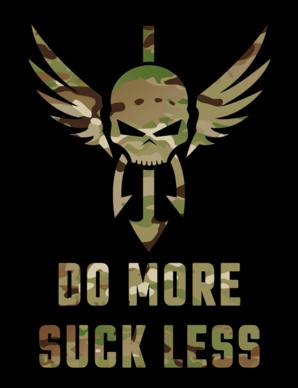 Shellback Tactical Do More Suck Less Sticker