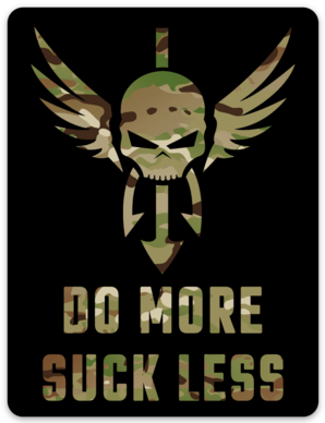 Shellback Tactical Do More Suck Less Sticker