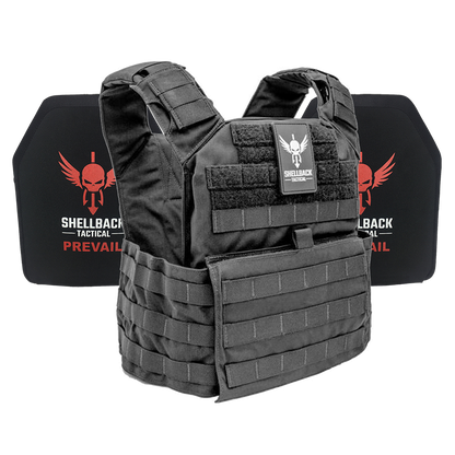 Shellback Tactical Banshee Rifle Lightweight Armor System with Level III LON-III-P Plates Black