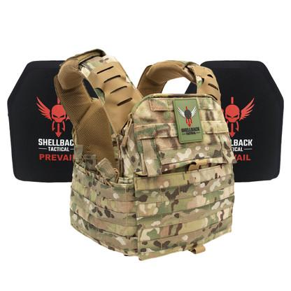 Shellback Tactical Banshee Elite 2.0 Lightweight Armor System with Level III LON-III-P Plates Multicam