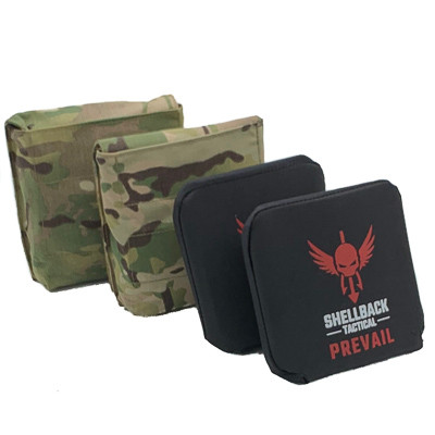 Shellback Tactical Side Armor Plate Kit with Level IV Model 4S17 Plates Multicam