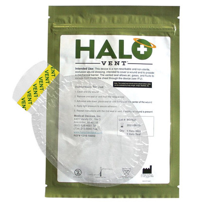 HALO Vent Chest Seal 2 Pack