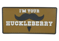 Shellback Tactical I Am Your Huckleberry Mustache PVC Patch