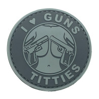 Shellback Tactical I love Guns and Titties PVC Patch