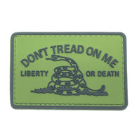 Shellback Tactical Don't Tread on Me Liberty or Death PVC Patch Ranger Green