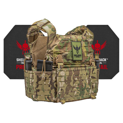 Shellback Tactical Rampage 2.0 Active Shooter Kit with Level IV 4S17 Plates Multicam