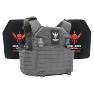 Shellback Tactical Rampage 2.0 Lightweight Armor System with Level III LON-III-P Plates Wolf Grey