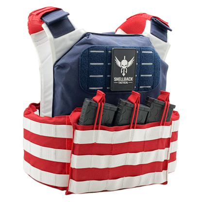 Shellback Tactical Stars and Stripes Plate Carrier Main