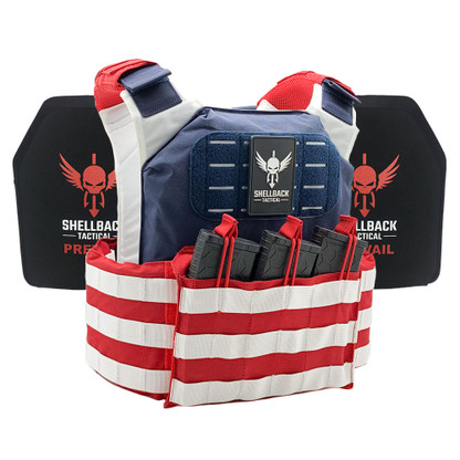 Shellback Tactical Stars and Stripes Active Shooter Kit with Level IV 1155 Plates